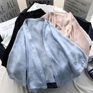 防曬衣 牛奶絲防曬衣女新款寬鬆仙女夏季薄款百搭學生短款披肩外套夏-Ballet朵朵