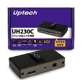 [ 中將3C ]  Uptech UH230C 4-Port USB 3.0集線器 UH-230C