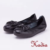 kadia.柔軟舒適 蝴蝶結牛皮包鞋(9055-90黑色)