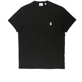 【BURBERRY】Monogram TB圖案棉質T-shirt(黑色) S/M/L/XL 8014020