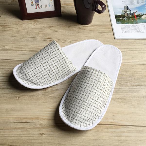 訪客/旅行必備-輕便格紋紙拖鞋-10雙組