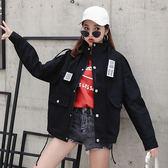 2019春季新款韓版學生bf原宿寬鬆學院風工裝棒球港味短外套女春秋