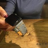 適用apple watch錶帶復古蘋果手表表帶iwatch軟皮質【毒家貨源】