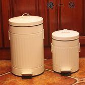 歐式三款彩色加厚垃圾桶家用腳踏式郵筒