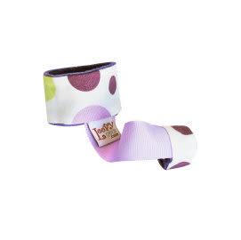玩具綁帶 美國Loopy Gear寶寶抓緊緊 安撫玩具手腕帶 薰衣紫圓點 里和 RIHO