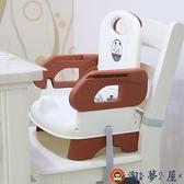 兒童餐桌寶寶餐椅吃飯座椅多功能可折疊靠背椅便攜【淘夢屋】
