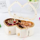 音樂盒音樂盒八音盒女生木質跳舞芭蕾舞女孩旋轉公主兒童生日禮物首飾盒 電購3C