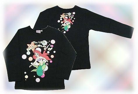 【波克貓哈日網】★童裝★長袖T恤迪士尼公主系列《小美人魚》黑色