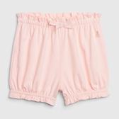 Gap女嬰鬆緊腰荷葉邊飾短褲543643-淺粉色