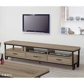 【森可家居】奧蘿拉古香色6尺電視櫃10ZX344-3 長櫃 木紋質感 工業風