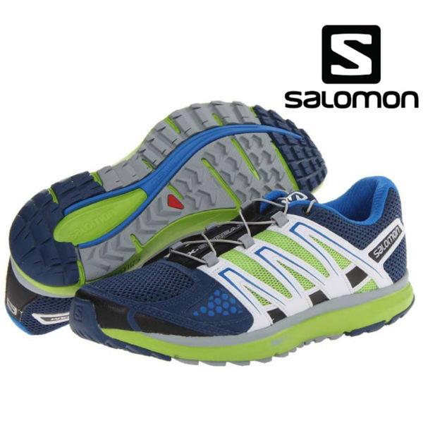 法國 SALOMON X-SCREAM 男城市越野跑鞋-深藍/亮綠 361922 休閒鞋 走路鞋 慢跑鞋 三鐵 運動鞋