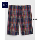 Gap男童 純棉柔軟印花圖案中腰休閒短褲 336767-海軍淺藍