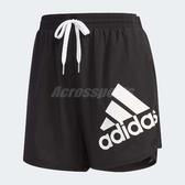 adidas 短褲 Shorts Bos 運動 黑 白 女款 大Logo 三條線 【PUMP306】 DY8661