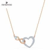 施華洛世奇 Infinity Heart 鍍多色愛無限心形項鏈