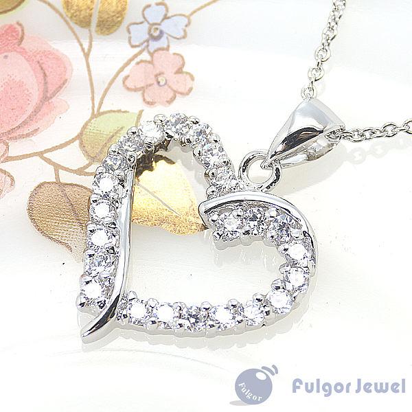 FU飾品 流行飾品 生日情人節母親節 禮物 贈品 心相印鋯石項鏈【Fulgor Jewel】
