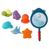 溫感變色兒童撈魚洗澡玩具(6隻動物)1組入 【小三美日】 顏色隨機出貨