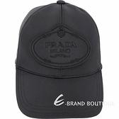 PRADA 品牌家徽科技彈性尼龍棒球帽(黑色)1920503-01