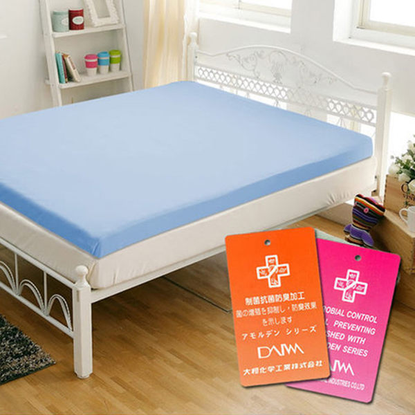 單人記憶床墊 防蹣抗菌單人床墊 5cm記憶床墊 防蟎 釋壓型 GLORIA葛蘿莉雅 藍