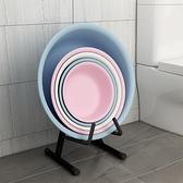 浴室收納架 浴室廁所盆子臉盆收納架可折疊臉盆架落地式家用衛生間放盆置物架【幸福小屋】
