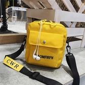 帆布包帆布包女斜挎小包包2020新款日系時尚學生韓版簡約百搭側背手機包 春季新品
