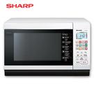 [SHARP 夏普]27公升 微電腦燒烤微波爐-白 R-T28NC(W)