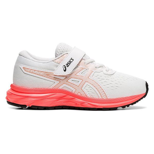 Asics Pre Excite 7 Ps [1014A101-100] 中童鞋 運動 休閒 慢跑 回彈 透氣 緩衝 白
