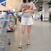 孕婦褲 孕婦牛仔短褲白色黑色夏季薄款外穿寬鬆打底褲安全褲孕婦短褲夏裝 2色