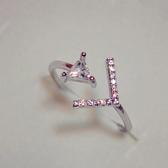 【NiNi Me 】韓系戒指 氣質微鑲水鑽鋯石開口式戒指戒指F0001
