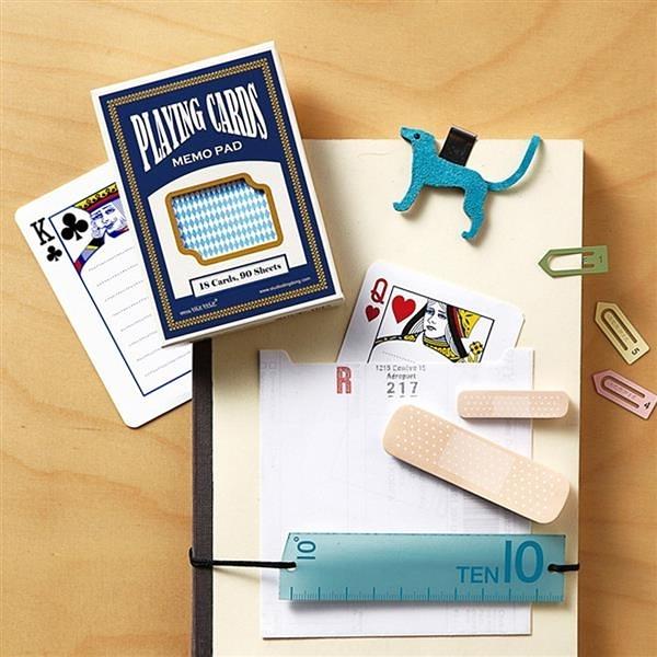 撲克牌便條紙卡片 / 藍色款【Studio ding dong】