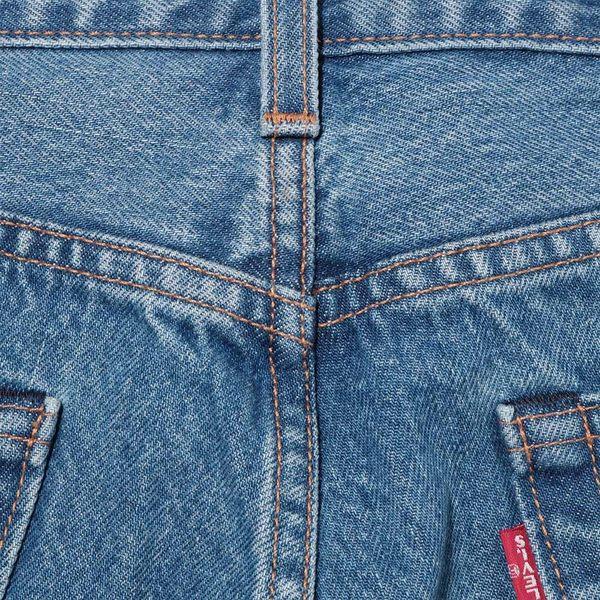 Levis X 怪奇物語限量聯名 / 男款 505 修身直筒牛仔褲 / 顛倒皮牌 / 無彈性