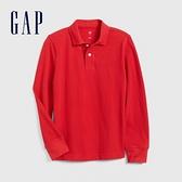 Gap男童簡約風格長袖POLO衫537946-摩登紅色