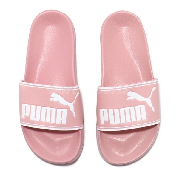Puma 拖鞋 Leadcat JR 粉紅 白 女鞋 大童鞋 涼拖鞋 【ACS】 36907805