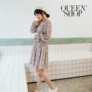 Queen Shop【01184964】圓領設計碎花短洋裝 兩色售*現+預*