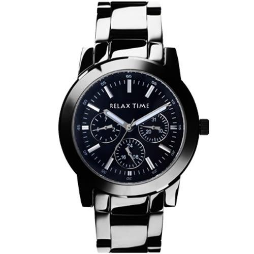 RELAX TIME 炫目耀眼三眼圈時尚腕錶/R0800-16-09/小