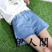 薄款破洞牛仔短褲女寬松闊腿熱褲