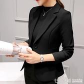 2019春秋新款chic職業百搭西服長袖韓版修身顯瘦小西裝外套女短款