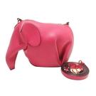 LOEWE 羅威 桃紅色牛皮大象造型斜背包 【BRAND OFF】