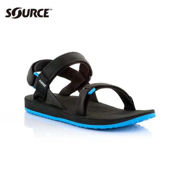 SOURCE 男URBAN織帯涼鞋10109100【黑藍】 / 城市綠洲(織帶、輕量、快乾、抑菌)