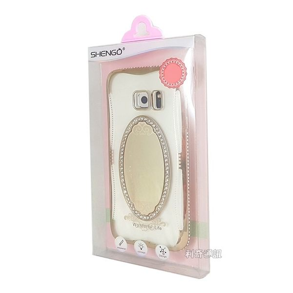 【SHENGO】夢莎系列鑲鑽鏡子透明軟殼 iPhone 7 / iPhone 8 (4.7吋)