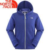 【The North Face 男款 LOGO 兜帽外套 怪獸藍灰】A8KY/兜帽外套/連帽夾克/連帽外套★滿額送
