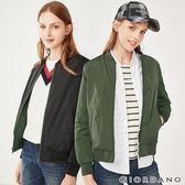 【GIORDANO】女裝雙面穿鋪棉飛行外套-60 深淵綠/標誌黑