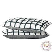 交換禮物-棉質枕套 簡單生活系列黑白灰枕套 48*74cm棉質枕套一對裝