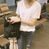 棉麻上衣 夏季新款純白色短袖t恤女竹節棉麻韓版學生簡約寬鬆半袖上衣 芭蕾朵朵