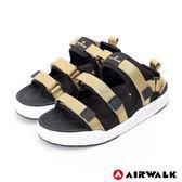 【AIRWALK】魔鬼氈增高二穿式涼鞋-金