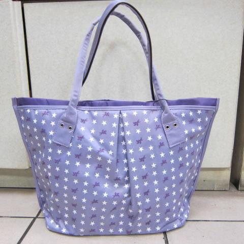~雪黛屋~POLO sandia 小星星休閒包 可手提 肩背 多夾層設計 防水尼龍布材質KS-901-36 紫