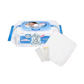 【奇買親子購物網】貝恩Baan NEW嬰兒保養柔濕巾80抽24入+小獅王辛巴simba紗布手帕(6入)
