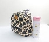 《高仕皮包》KIUS防水可愛後背包-米黑格紋