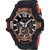 CASIO 卡西歐 G-SHOCK 飛行員太陽能藍牙手錶-橘 GR-B100-1A4 / GR-B100-1A4DR