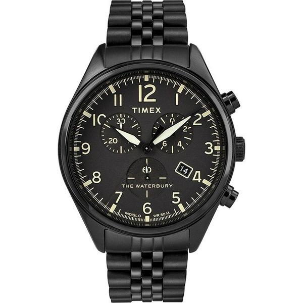 【分期0利率】TIMEX 天美時 三眼錶 全黑鋼帶 41mm 全新原廠公司貨 TXTW2R88600