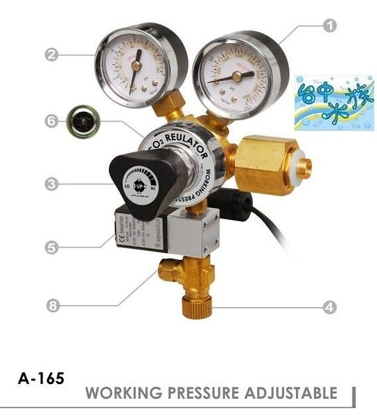 {台中水族} 台灣UP-A-165 雅柏《雙錶電磁閥 / 可調輸出壓力》 特價 二氧化碳CO2鋼瓶出氣控制